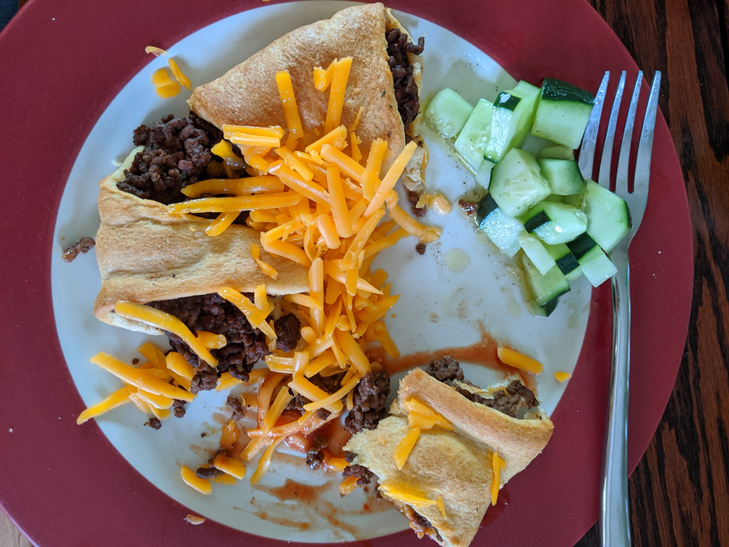 taco ring ground beef and cheese