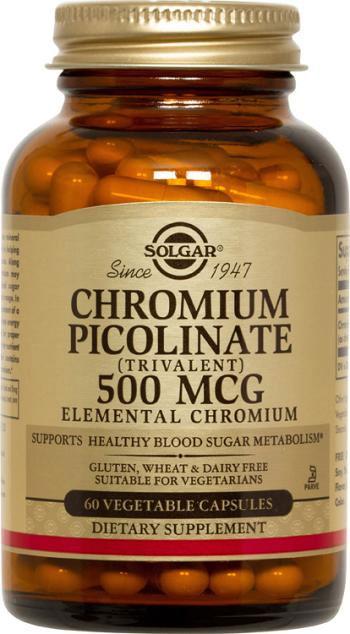 Solgar Chromium Picolinate 500 mcg - 60 Vegetable Capsules