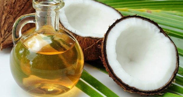 Coconut oil and coconut.