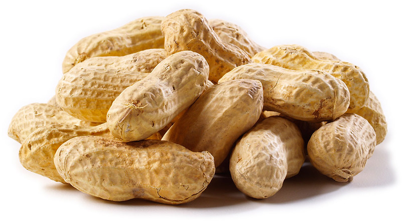 A pile of peanuts in shells.