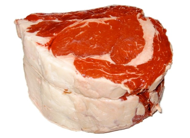 Raw meat with lots of fat.