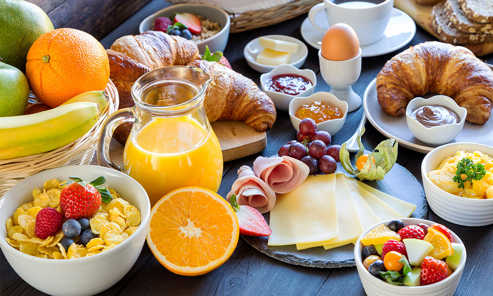 healthy breakfast spread