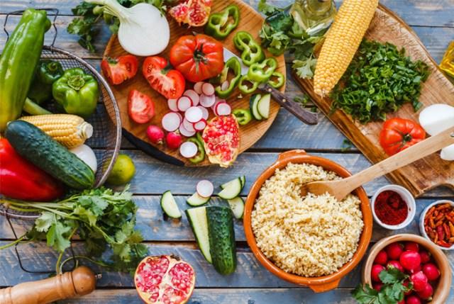 fresh veg and fruits