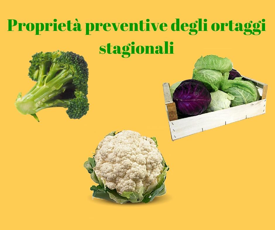 Proprietà preventive degli ortaggi stagionali