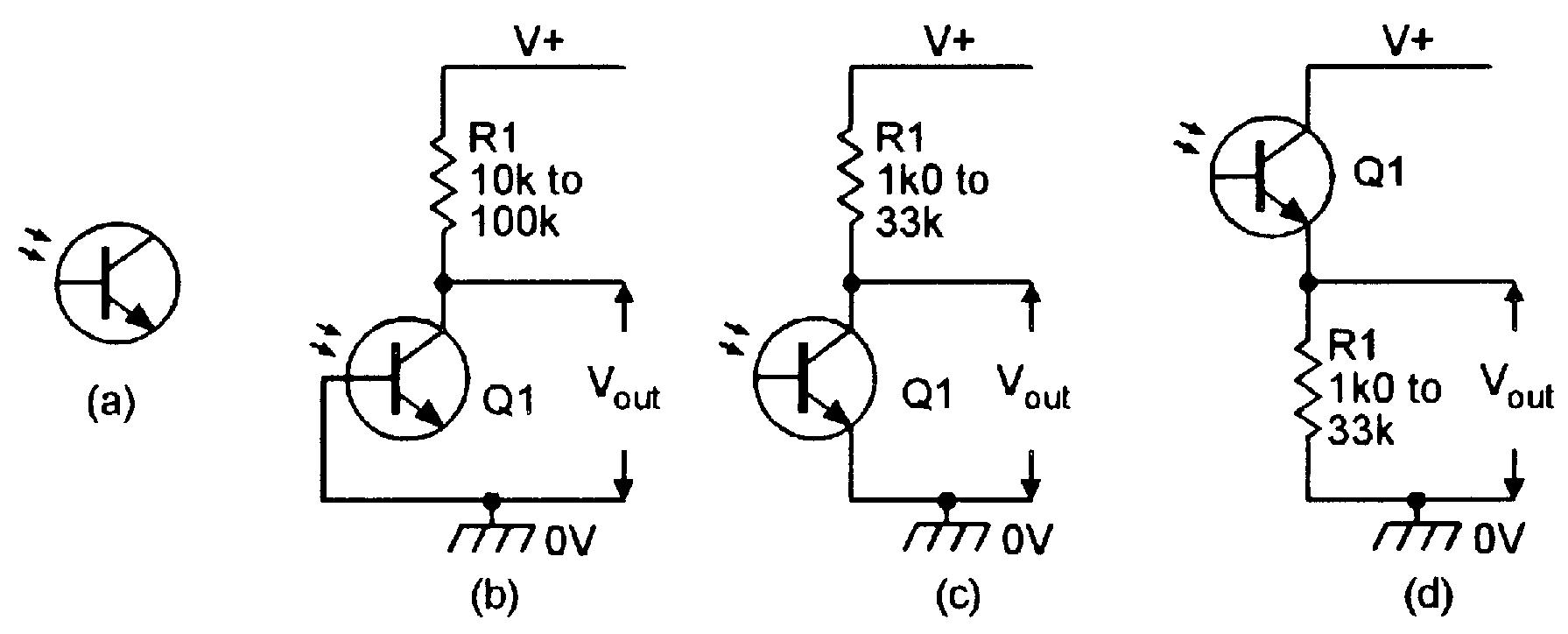 hight resolution of phototransistors