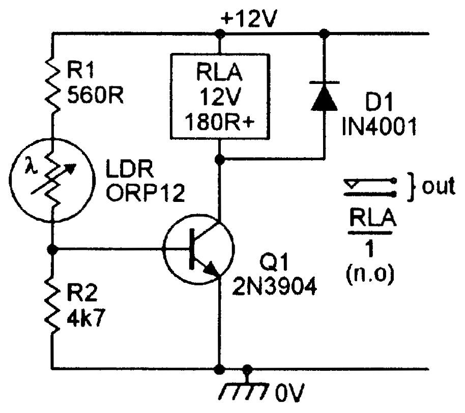 How To Make A 1 5v Ldr Darkness Sensor Circuit Simple Ldr