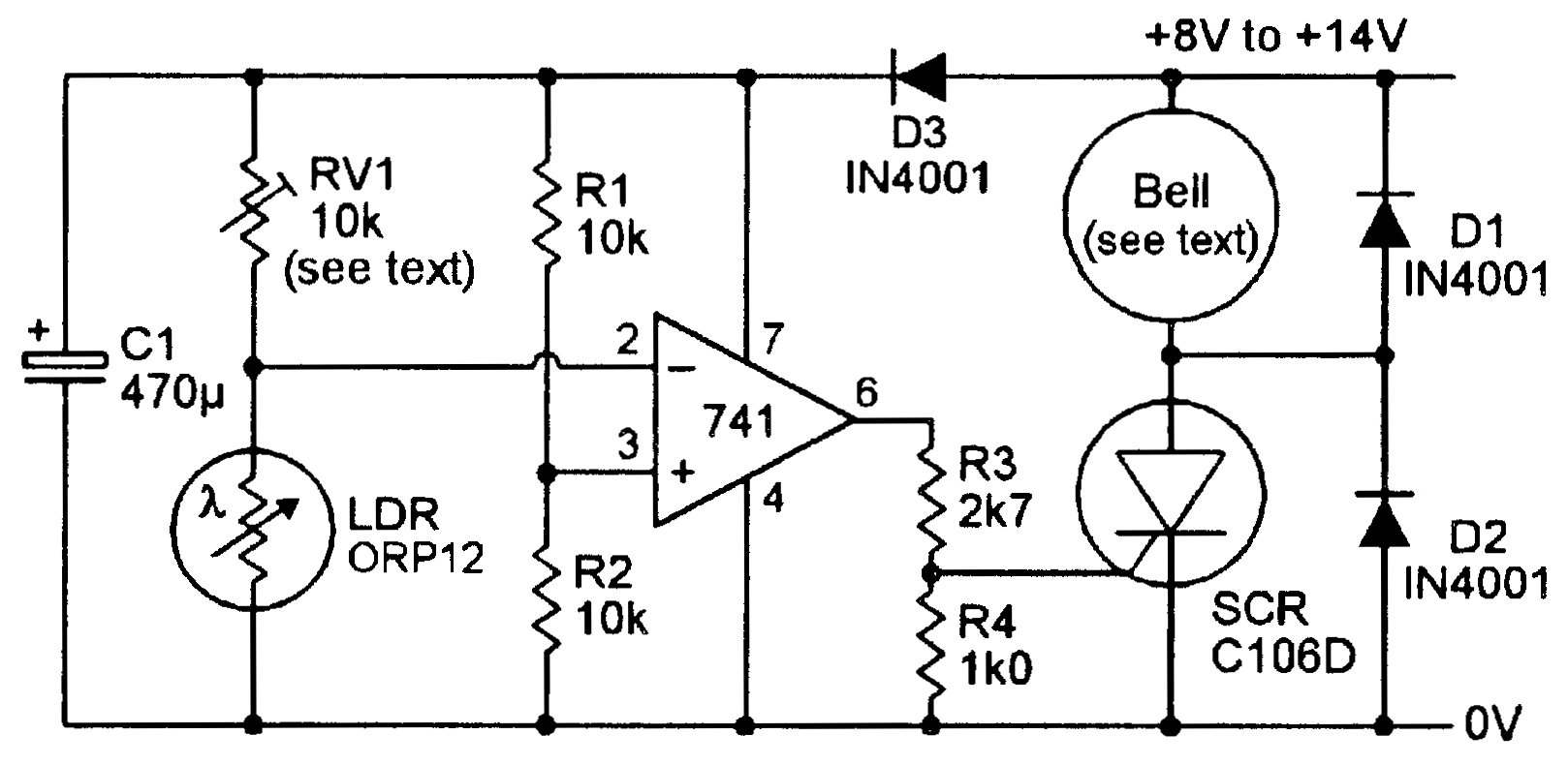 hight resolution of a bell output ldr alarm