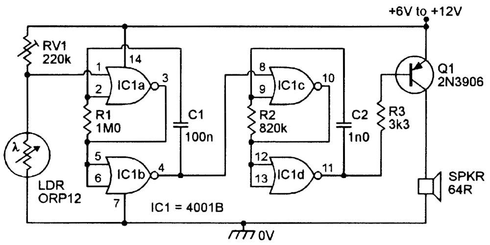 medium resolution of siren output ldr alarms