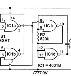 in practice the switching point of each individual 4001b ic is very stable and the figure 7 circuit gives very sensitive light activated alarm  [ 1791 x 887 Pixel ]