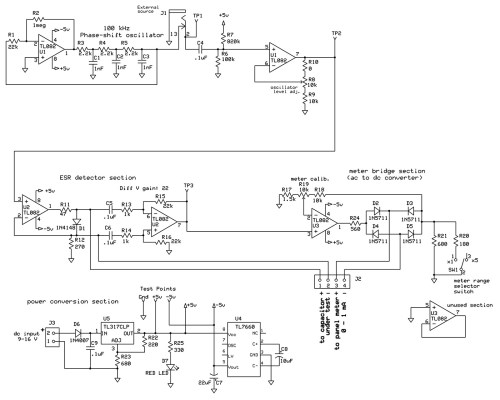 small resolution of electrical schematic of the esr meter