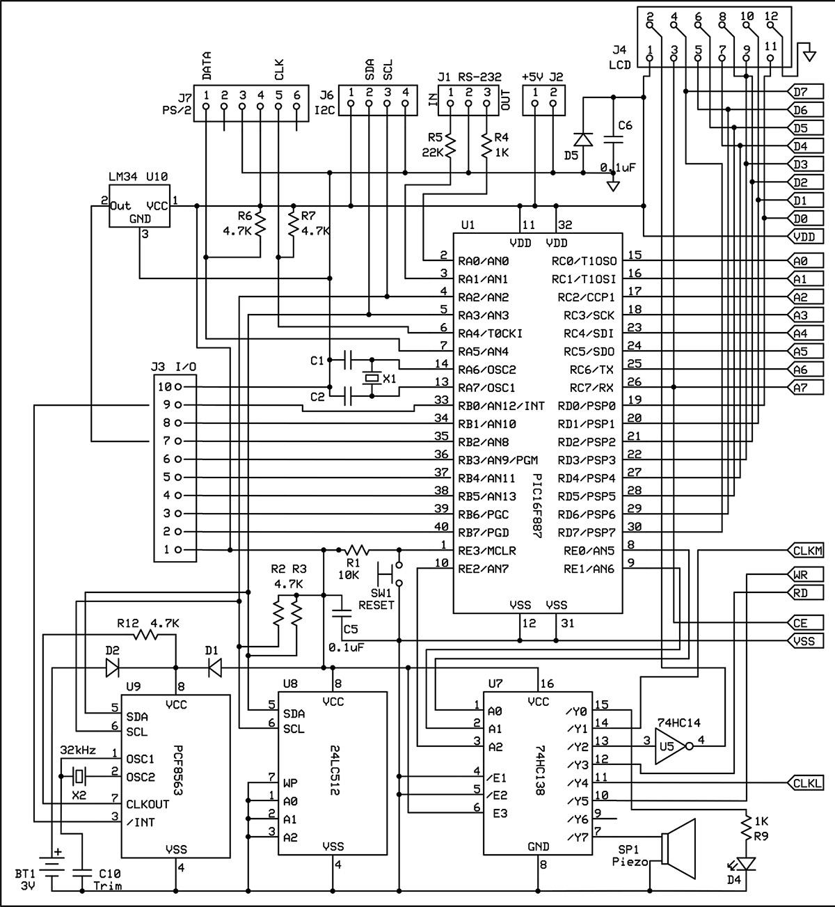 The Retro Pic Single Board Computer