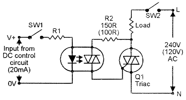 modified lamp dimmer circuit