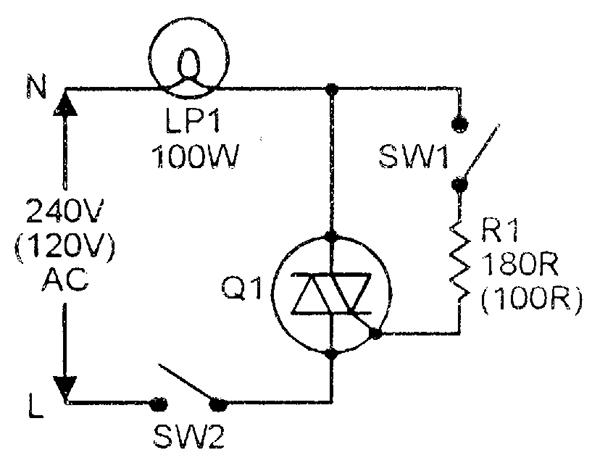 figure 2 simplified ac power control circuit using a triac