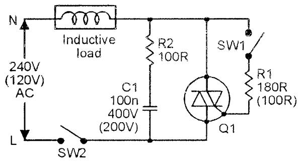 snubber circuit triac triac snubber