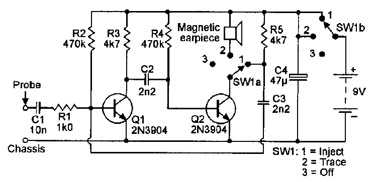 signal injector and tracer circuit