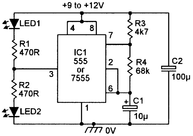 110v Indicator Light Wiring Diagram Practical Led Indicator And Flasher Circuits Nuts