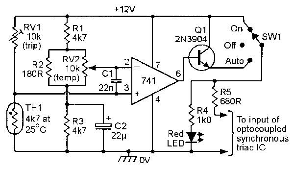 temperature sensing circuit using thermistor