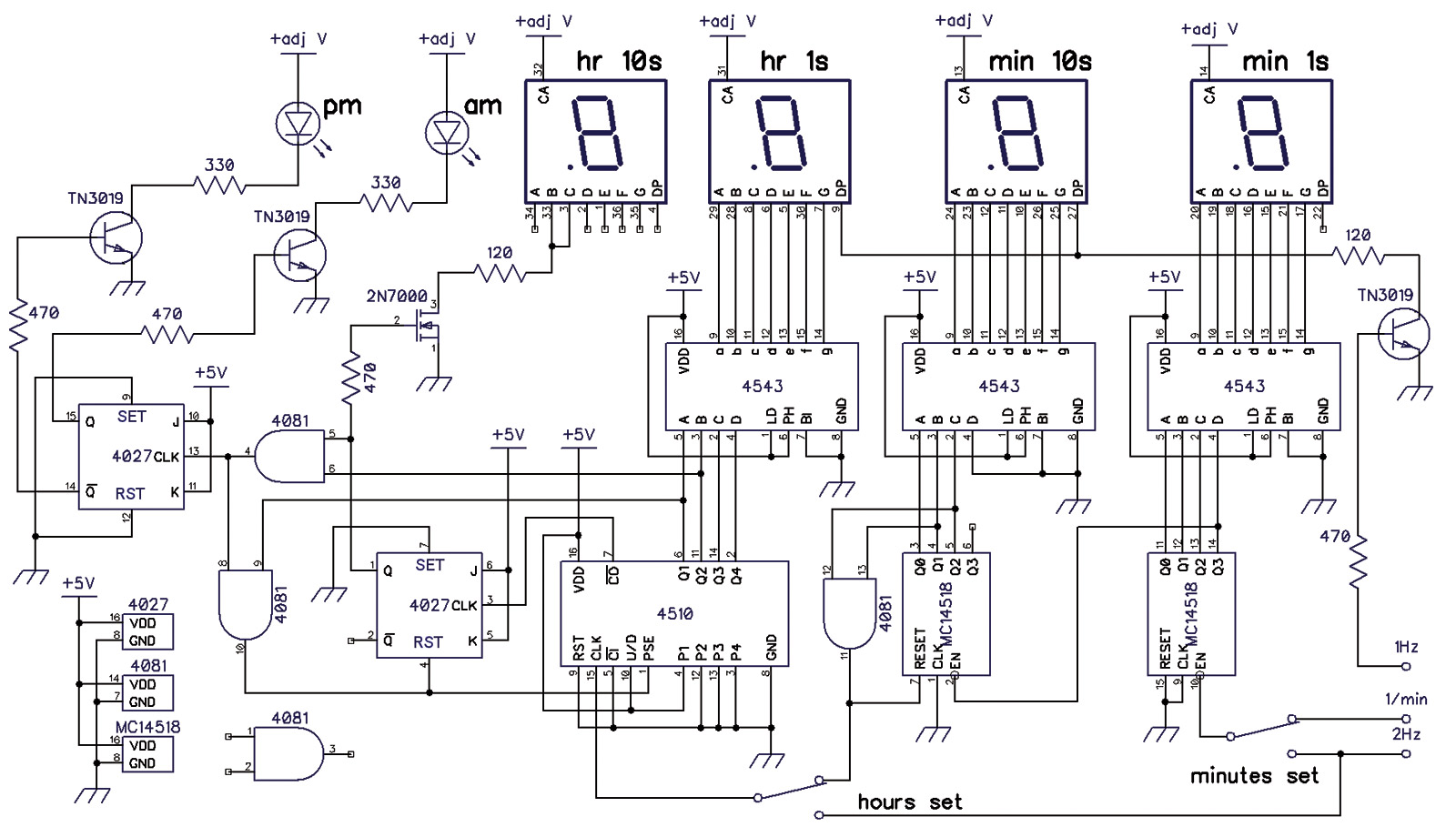 decade counter circuit diagram using 7490 36 volt club car motor wiring an old school digital clock nuts and volts magazine
