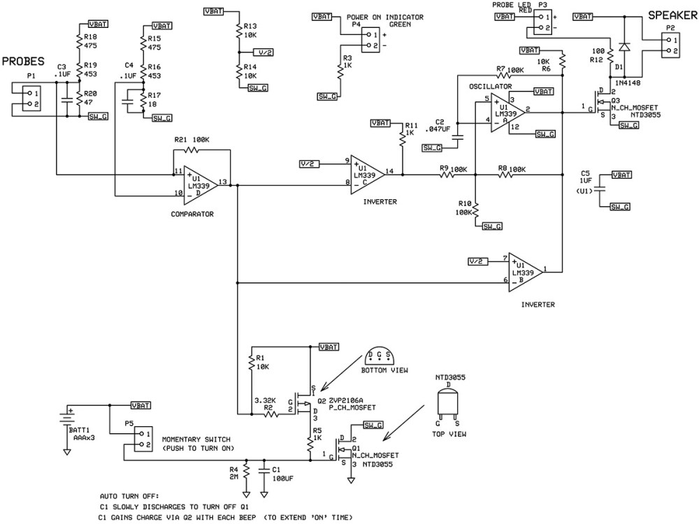 medium resolution of schematic of the continuity tester