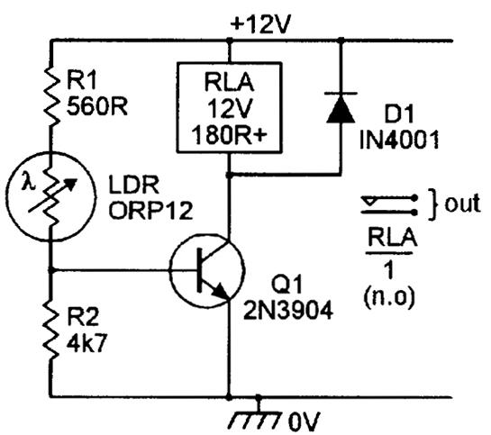 Ldr Circuit Diagram With Relay – Ireleast