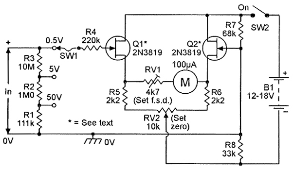 very simple voltmeter with ic741
