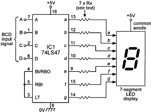 74ls47 pin diagram