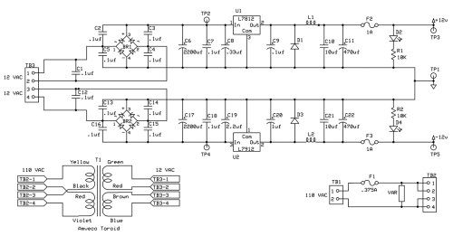 small resolution of figure 2 precision headphone power supply schematic