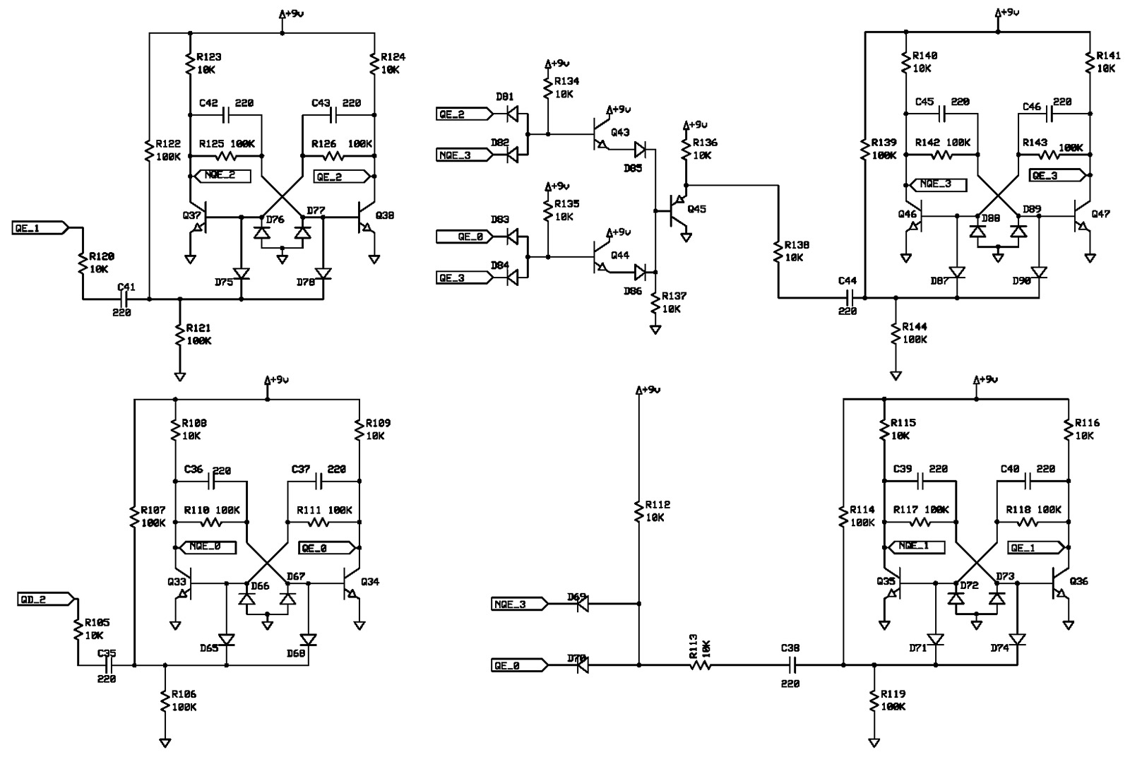 hight resolution of figure 6 is a divide by 10 counter transistor schematic of the logic circuit note the two diode or gate and the three transistor and or gate