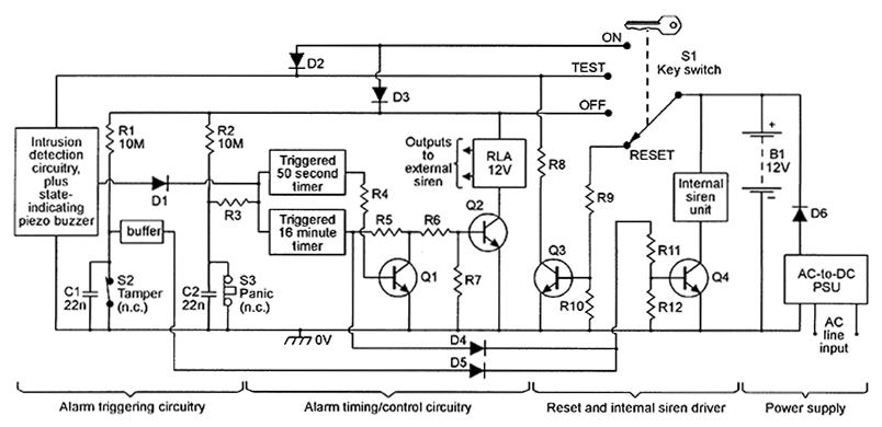 Wiring Diagram Externally Powered Home Security System