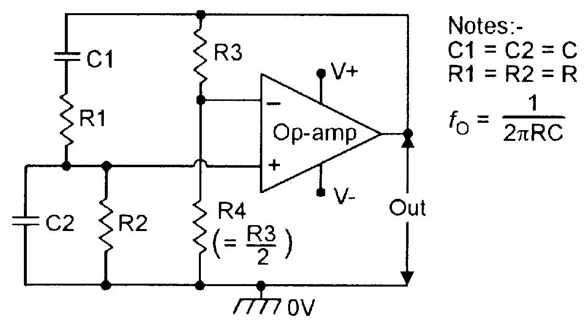 hight resolution of figure 2 basic wien bridge sinewave oscillator