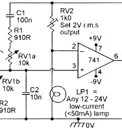 figure 4 150hz 1 5khz lamp stabilized wien bridge oscillator  [ 1352 x 894 Pixel ]