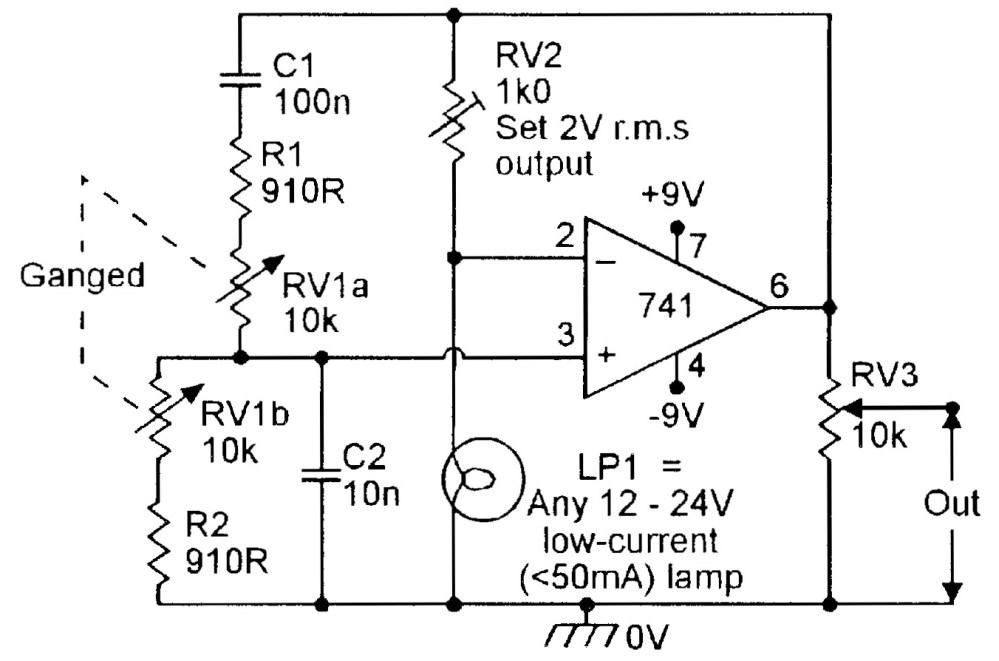 medium resolution of figure 4 150hz 1 5khz lamp stabilized wien bridge oscillator