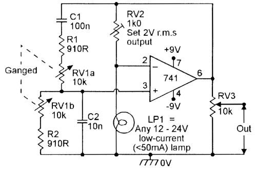 small resolution of figure 4 150hz 1 5khz lamp stabilized wien bridge oscillator