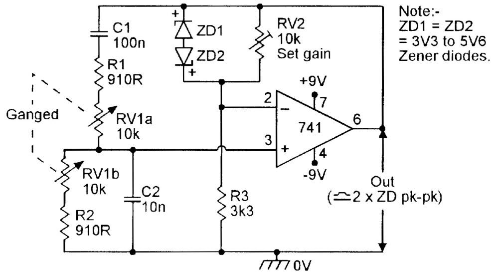 medium resolution of figure 6 zener regulated 150hz 1 5khz wien bridge oscillator