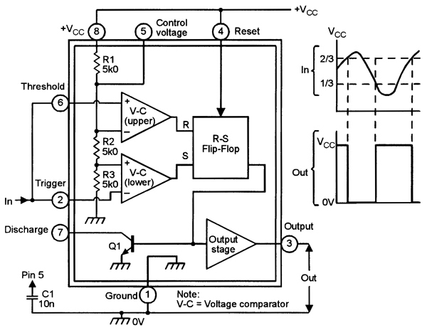 one shot timer use ic ne555 circuit electronic circuits