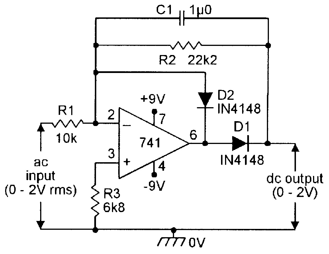 rms to dc converter circuit diagram