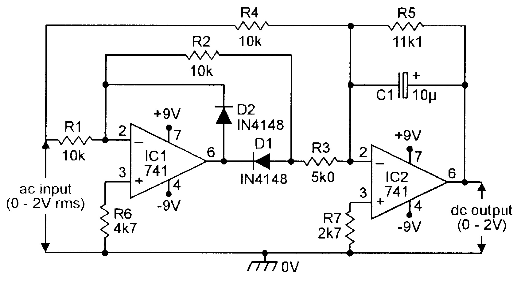 hight resolution of precision full wave ac dc converter