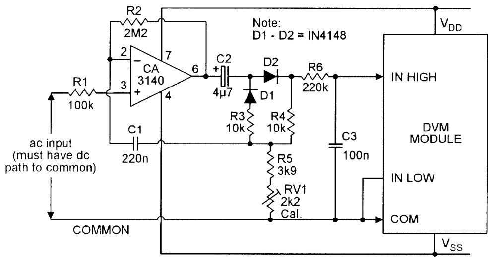 medium resolution of ac dc converter for use with dvm module
