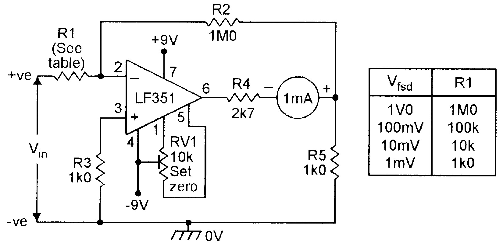 hight resolution of op amp cookbook part 4 nuts volts magazine high voltage follower circuit basiccircuit circuit diagram