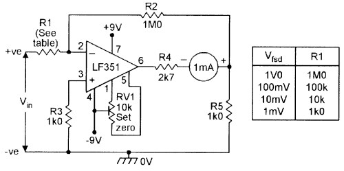 small resolution of op amp cookbook part 4 nuts volts magazine high voltage follower circuit basiccircuit circuit diagram