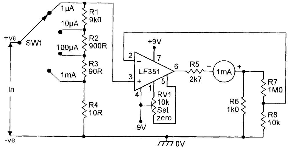 medium resolution of figure 14 four range dc microammeter