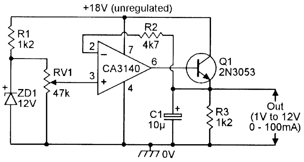 medium resolution of simple variable voltage regulated power supply