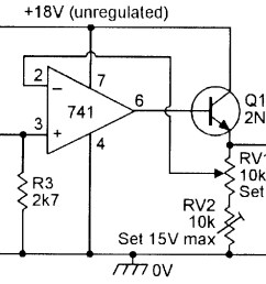 figure 20 3v to 15v 0 to 100 ma stabilized psu  [ 1572 x 810 Pixel ]