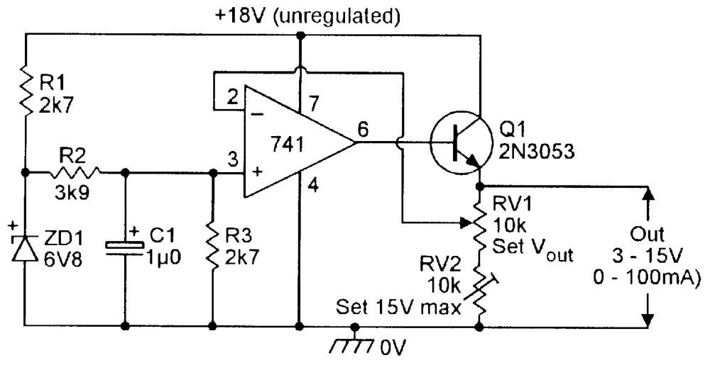 medium resolution of figure 20 3v to 15v 0 to 100 ma stabilized psu