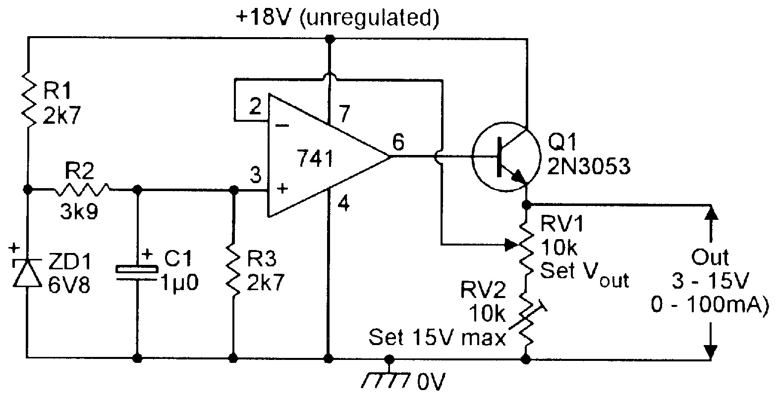 hight resolution of figure 20 3v to 15v 0 to 100 ma stabilized psu