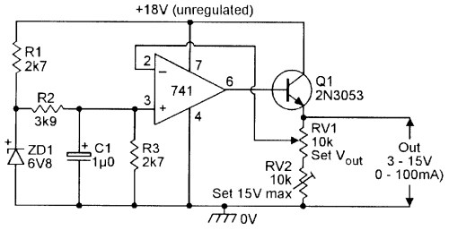 small resolution of figure 20 3v to 15v 0 to 100 ma stabilized psu