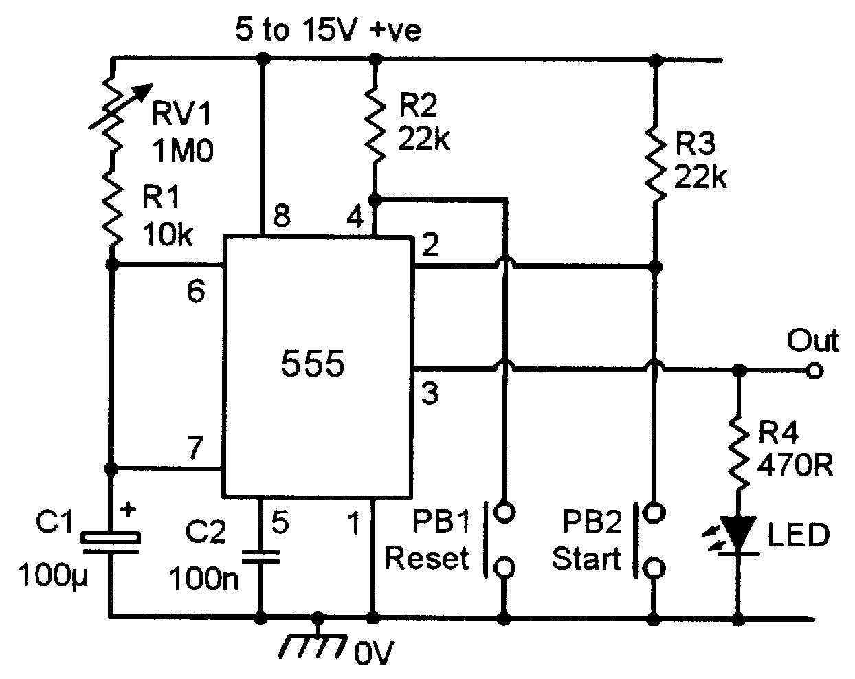 hight resolution of practical 555 timer circuits