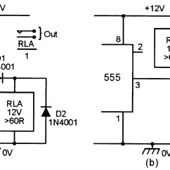 Off Delay Timer Wiring Diagram Wire 2 Lights To 1 Switch 555 Monostable Circuits Nuts And Volts Magazine