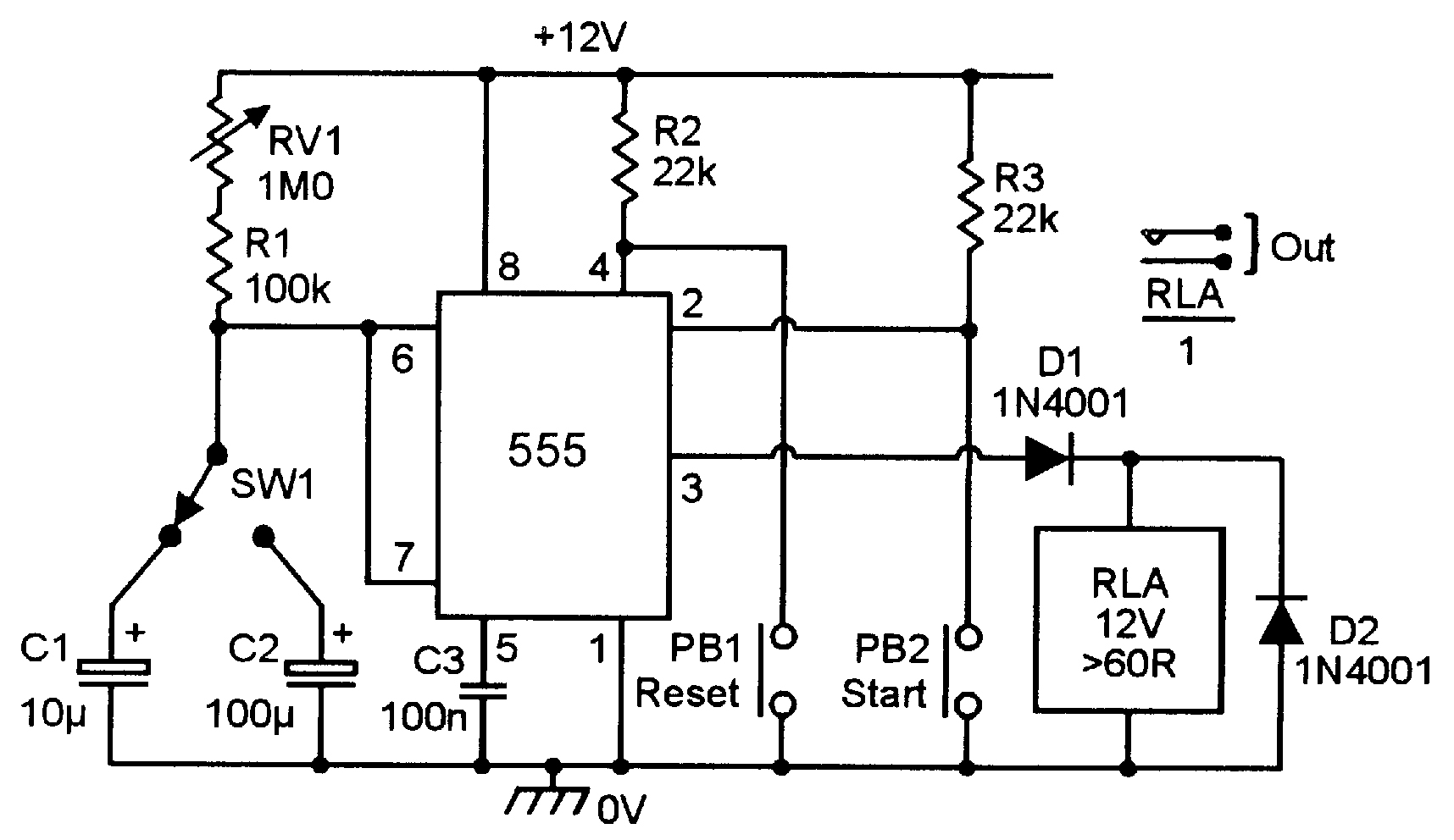 555 astable circuit diagram tradeoficcom