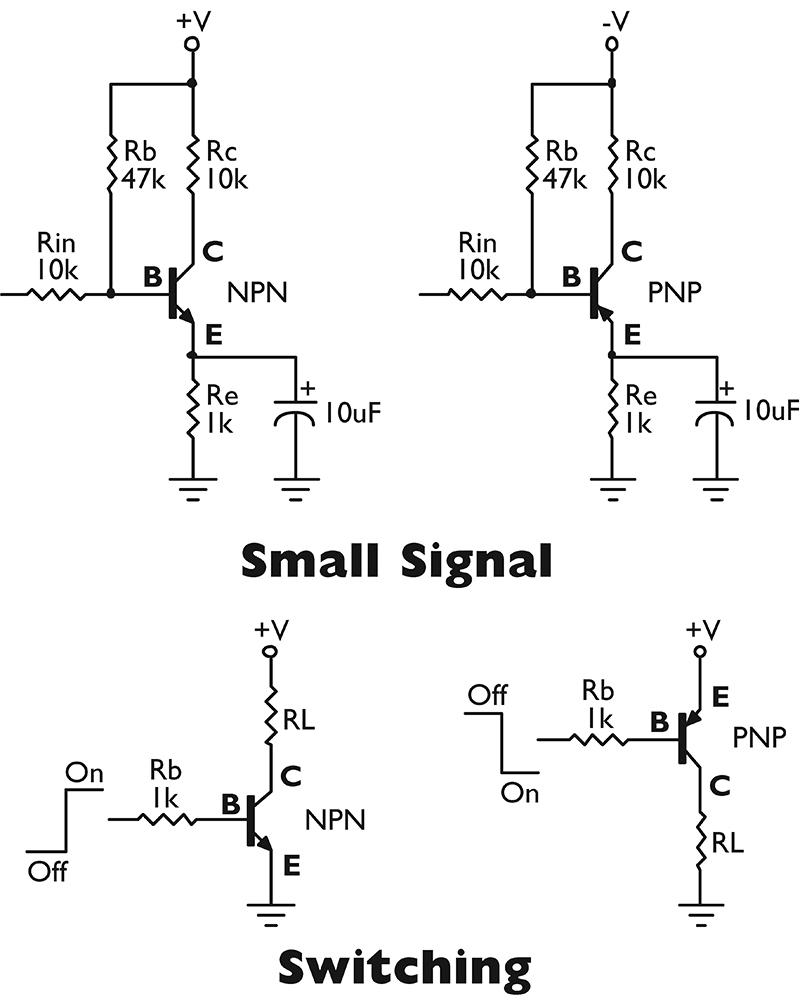 pnp transistor as switch circuit